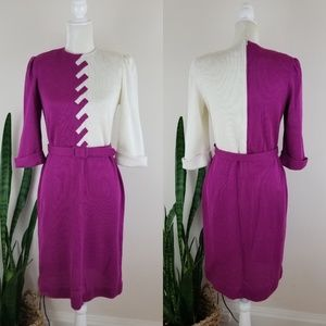 VTG 70's Leslie Fay Sweater Dress